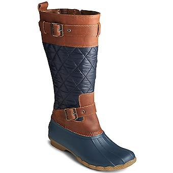 Sperry Womens Saltwater Buckled Quilted Boots