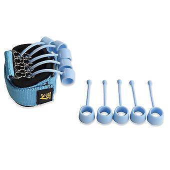 Entrenador de fuerza de agarre de dedo Mano Yoga Banda de resistencia (azul)