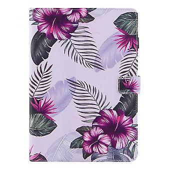 """Case For Ipad 9 10.2"""" Generation 2021 Cover Auto Sleep/wake Rotating Multi-angle Viewing Folio Stand - Purple Flower"""