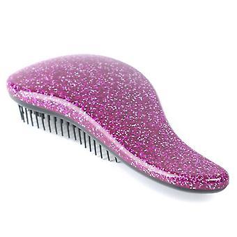 (Purple) Glitter Hair Brush Anti-static Multicolor Hair Comb Professional Hair Stylish