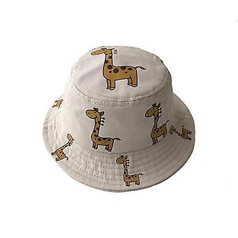Lente herfst kinderen emmer hoeden cartoon giraffe zonnehoed meisjes jongens outdoor strand hoed camping vissen cap casual panama cap