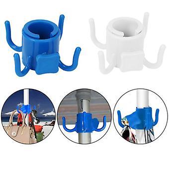 utendørs strand paraply krok spiker fire ben kroker hage camping paraply plast fire pinner henger