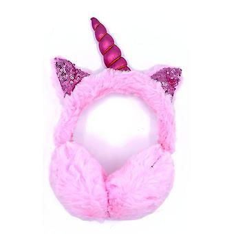 Pink øre med ører og horn