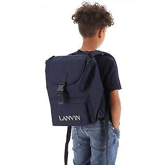Lanvin Kids Navy Logo Reppu