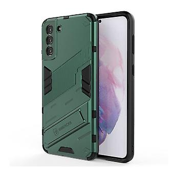 BIBERCAS Xiaomi Mi 10 Lite Case with Kickstand - Shockproof Armor Case Cover TPU Green