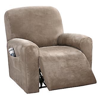 Samt Liegebezüge Spandex Plüsch Furnitue Abdeckung Deluxe Lounge Abdeckung, hohe Stretch Möbel Protektor Abdeckung für Liege, Taupe
