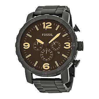 Fossil Nate Chronograph Musta Ion-pinnoitettu Miesten kello JR1356