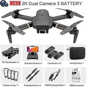 V4 rc drone 4k hd kamera szerokokątna 1080p wifi fpv drone podwójna kamera quadcopter w czasie rzeczywistym