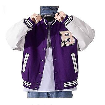 Hywell Baseball Jacket Estudiante Universitario Masculino Varsity Jacket Chaqueta Pareja Unisex Chaqueta Chaqueta Abrigo