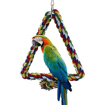 Bird Cage Holder Accessories Triangle Parrot Ring Parrot Parrot Swing Bird Cage Decoration Bird Circle Ring Parrot Accessories Parakeet Macaw