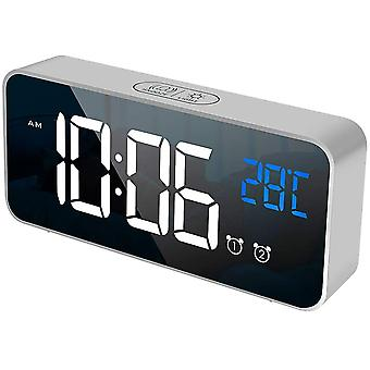 Digitale wekker oplaadbare spiegel wekker bed met led temperatuur display