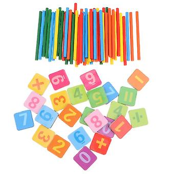 Wooden Color Counting Stick And Card Montessori Toys Children's Math Learning Game Toys Counting Educational Toys
