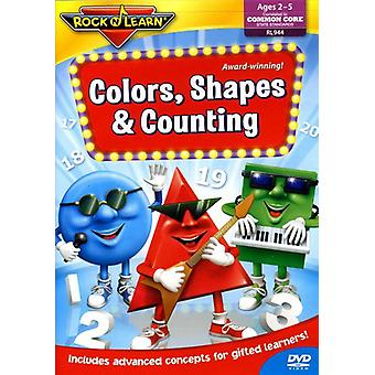 Rock'N Learn - Colors Shapes & Counting [DVD] USA import