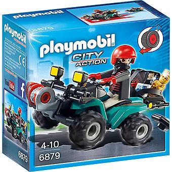 Playmobil 6879 stad actie Rover Quad speelgoed met Loot
