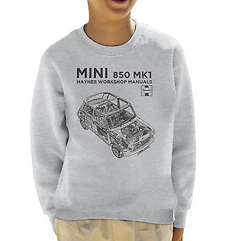 Haynes Workshop Manual Mini MkI Black Kid's Sweatshirt