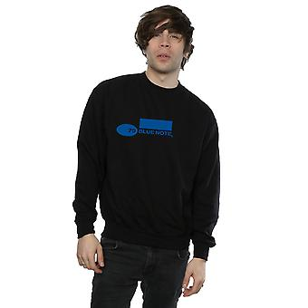 Blue Simple Logo Sweatshirt Note Records masculin