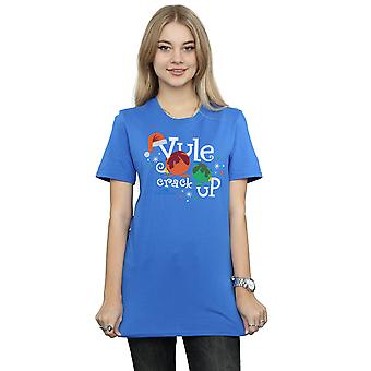 National Lampoon's Christmas Vacation Women's Yule Crack Up Boyfriend Fit T-Shirt