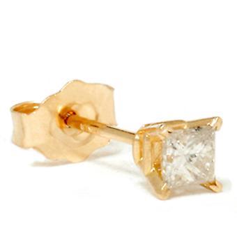 1/6ct Diamond Stud 14K Yellow Gold