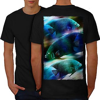 Space Fish Galaxy Animal Men BlackT-shirt Back | Wellcoda