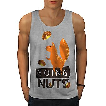 Going Nuts Squirrel Men GreyTank Top | Wellcoda