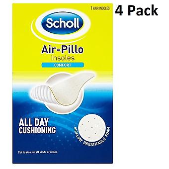 4 X Scholl Air-Pillo Insoles - Comfort - All Day Cushioning - Unisex