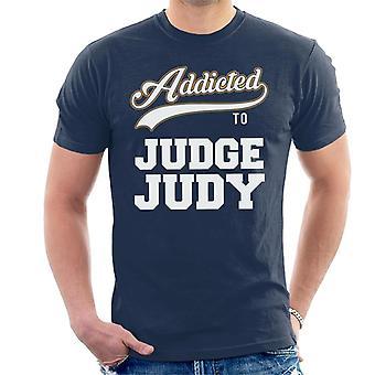 Verslaafd aan rechter Judy Baseball tekst mannen T-Shirt