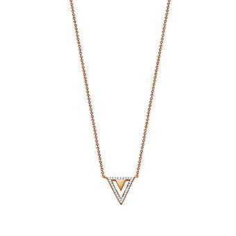ESPRIT women's chain necklace stainless steel Rosé cubic zirconia JW50215 ESNL03115D420