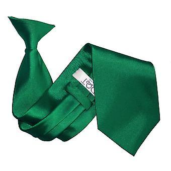 Emerald Green oformaterad Satin klipp på slips