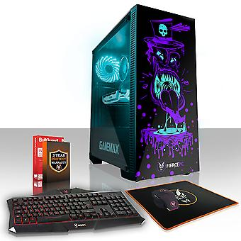 Felle GOBBLER Gaming PC, snelle Intel Core i7 7700 4,2 GHz, 120GB SSD, 2TB HDD, 8GB RAM, GTX 1650 4GB