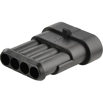 TE Connectivity Pin enclosure - cable AMP-Superseal 1.5mm Series Total number of pins 4 Contact spacing: 6 mm 282106-1 1 pc(s)