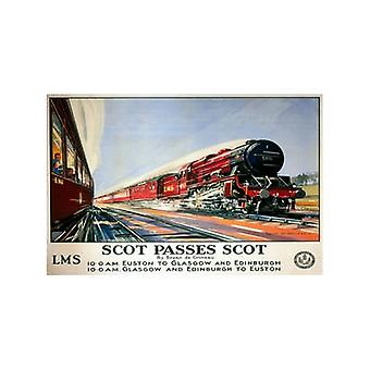 Passes de Scot Scot (ancien Rail Ad.) Aimant de réfrigérateur