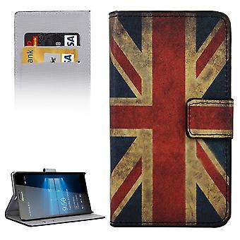 Handyhülle Tasche für Handy Microsoft Lumia 950 XL Retro Fahne England / UK