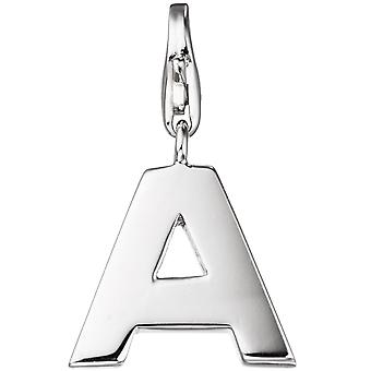 Single earrings charm letter A 925 sterling silver pendants for charm bracelet