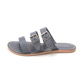 Coconuts Womens Wisp Leather Open Toe Casual Slide Sandals