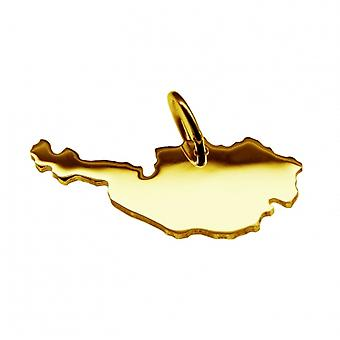 Trailer map Austria pendants in massive 585 gold