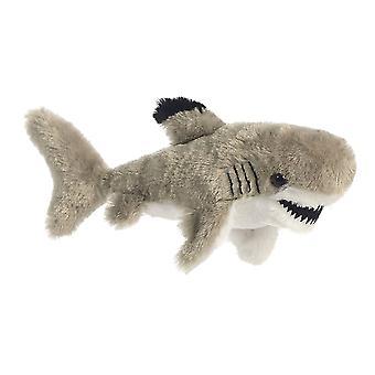 Black Shark Mini Flopsie Stofftier von Aurora gekippt