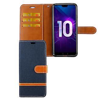 Huawei honor 10 telefon komórkowy pokrowiec ochronny obudowy etui portfel posiadacz karty niebieski