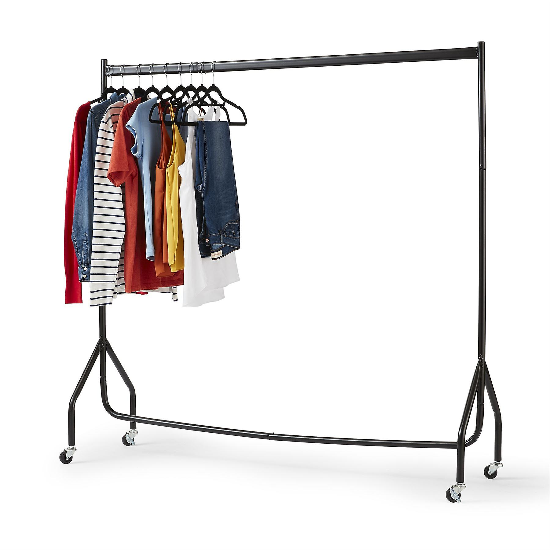 Superior Heavy Duty 5FT Long x 5FT Tall Clothes Rail In Black