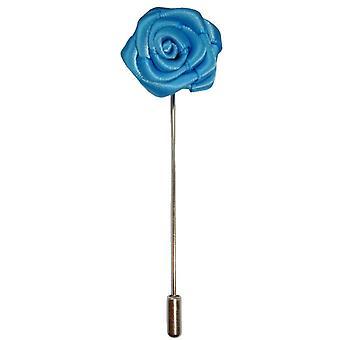 Bassin y Pin de solapa marrón flor rosa - azul