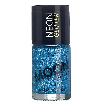 Maan gloed - 14ml Neon UV Glitter Nail Varnish - blauw