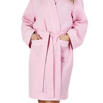 Slenderella HC1300 kvinders vaffel Pink slåbrok Loungewear bad Robe Housecoat kåbe