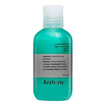 Anthony verkwikkende Rush haar + Body Wash, 100ml