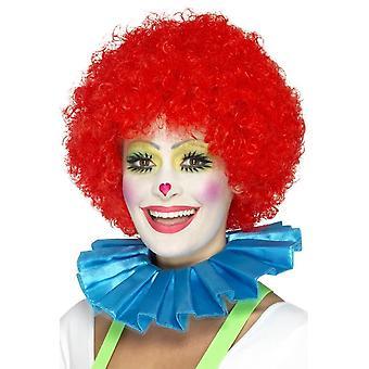 Clown Hals Rüschen, blau