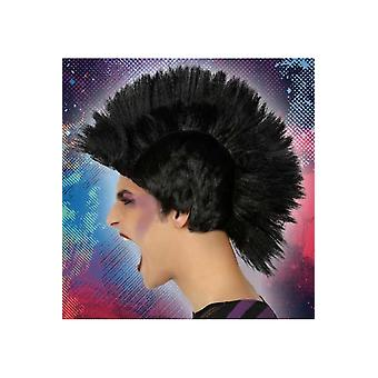 Peruki czarną perukę punk
