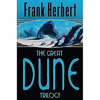 Den fantastiska Dune-trilogin: Dune, Dune Messiah, barn av dynen: Dune, Dune Messiah, barn av dynen (Gollancz S.F.)