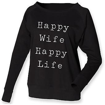 Sweatshirt Happy Wife Happy Life