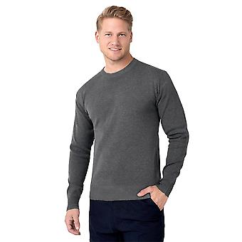 KRISP  Mens Plain Classic Crew Neck Long Sleeve Wool Knit Jumper Sweater Pullover Top