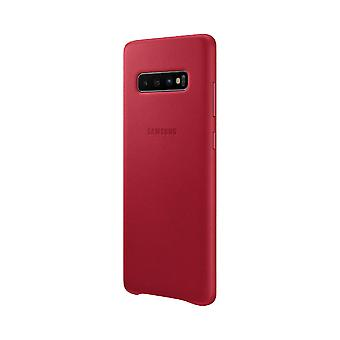 Samsung leather cover for Samsung Galaxy S10 G973 EF VG973LREGWW red bag case protective cover