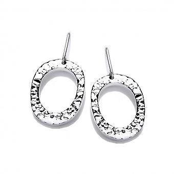 Cavendish francese grande argento orecchini pendenti ovali