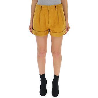 Isabel Marant Sh209001i10ag Women's Yellow Viscose Shorts